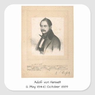 Adolf von Henselt Square Sticker