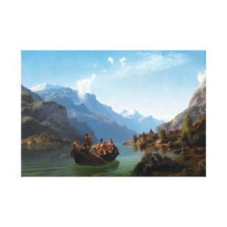Adolph Tidemand and Hans Gude The Bridal Party Canvas Print
