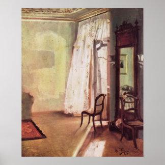Adolph von Menzel Balcony Room Poster