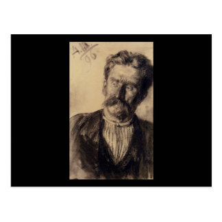 Adolph von Menzel Head Of A Man Postcard