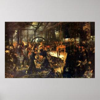 Adolph von Menzel Iron Rolling Mill Poster