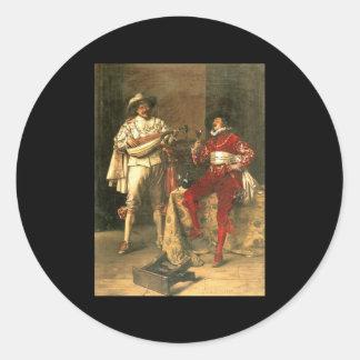 Adolphe Alexandre Lesrel Gentlemens Pleasures Classic Round Sticker