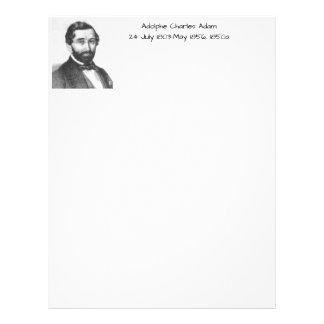 Adolphe Charles Adam, 1850a Letterhead