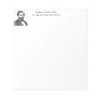 Adolphe Charles Adam, 1850a Notepad