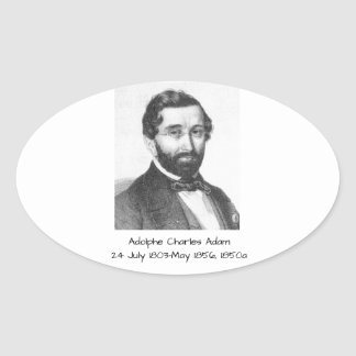 Adolphe Charles Adam, 1850a Oval Sticker