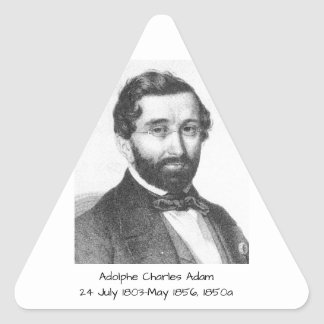 Adolphe Charles Adam, 1850a Triangle Sticker