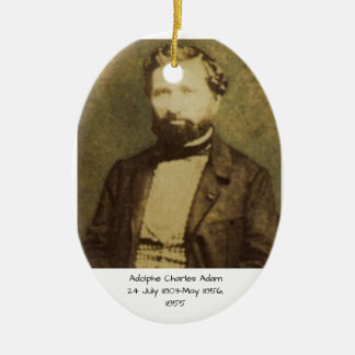 Adolphe Charles Adam, 1855 Ceramic Ornament
