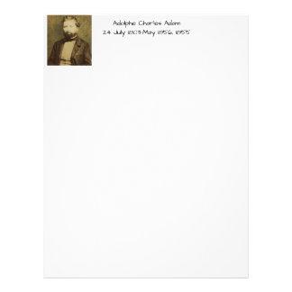 Adolphe Charles Adam, 1855 Letterhead