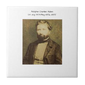 Adolphe Charles Adam, 1855 Tile