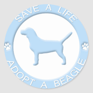 Adopt a Beagle Stickers