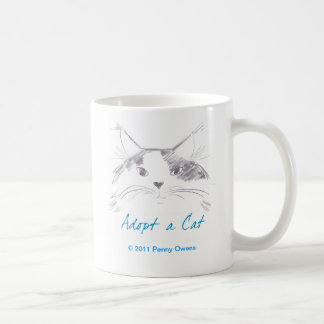 Adopt a Cat Coffee Mug
