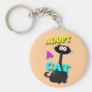 Adopt a Cat Keychain