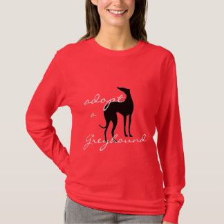 Adopt a Greyhound  Dog Lovers Animal Rescue T-Shirt