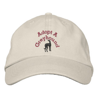 Adopt A Greyhound Embroidered Hat