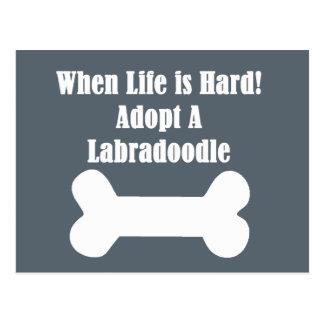 Adopt A Labradoodle Postcard
