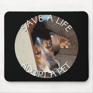 Adopt a Pet Photo Custom | Beagle Dog Rescue Mouse Pad