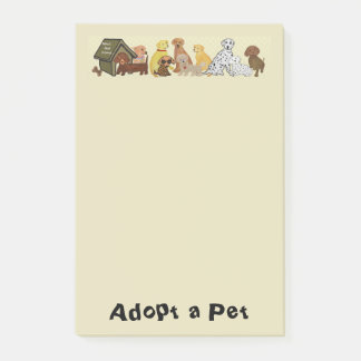 Adopt a Pet Post-it Notes
