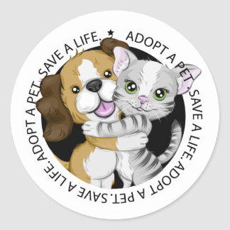 Adopt a Pet Sticker