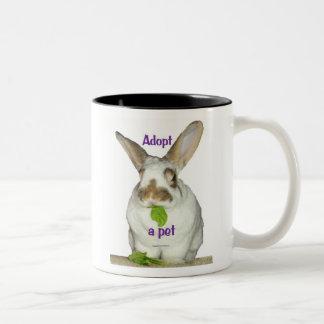Adopt a pet Two-Tone coffee mug