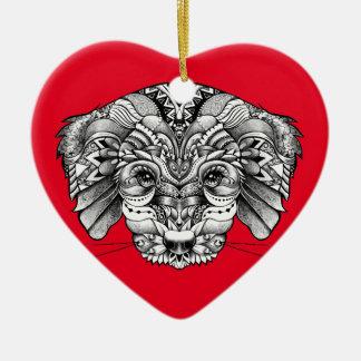 Adopt A Puppy Ceramic Heart Ornament