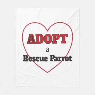 Adopt a Rescue Parrot Fleece Blanket