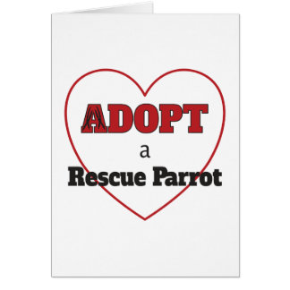 Adopt a Rescue Parrot - Heart Card