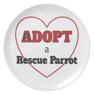 Adopt a Rescue Parrot - Heart Plate