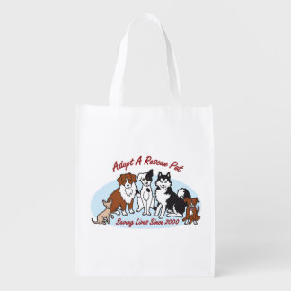 """Adopt a Rescue Pet"" Grocery Tote"