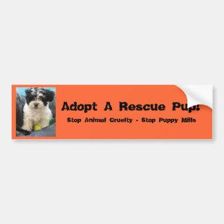 Adopt A Rescue Pup! Bumper Sticker
