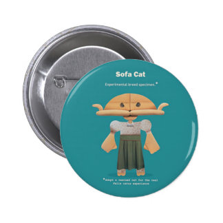 ADOPT A RESCUED CAT! 2 INCH ROUND BUTTON