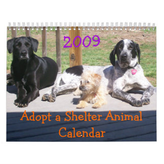 Adopt a Shelter Animal Calendar