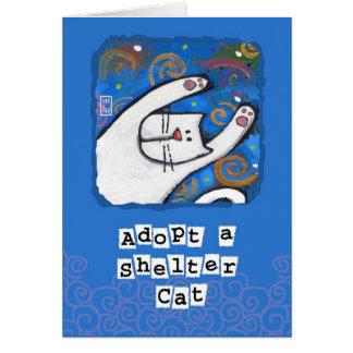 Adopt a Shelter Cat, Love a Cat Card