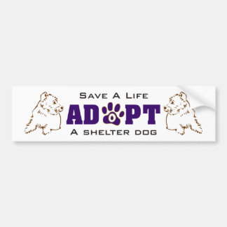 Adopt A Shelter Dog 1 Bumper Sticker