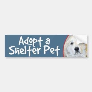 Adopt a Shelter Pet Great Pyrenees Bumper Sticker