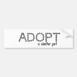 Adopt a Shelter Pet Paws Bumper Sticker