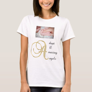 Adopt all amazing angels women t-shirt