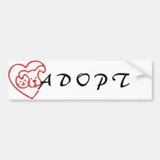 Adopt an animal bumper sticker