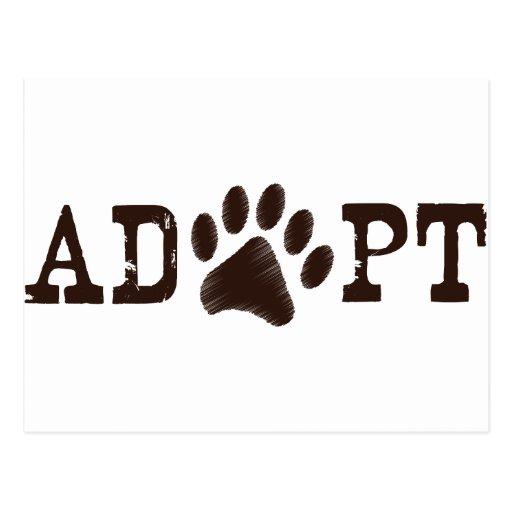 Adopt an animal postcard
