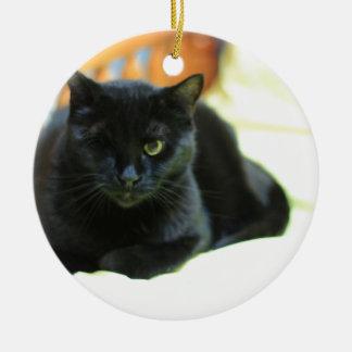 ADOPT Blanche Round Ceramic Ornament