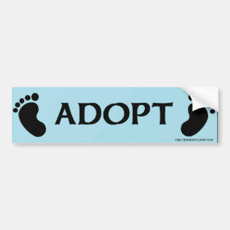 ADOPT bumper sticker with baby feet