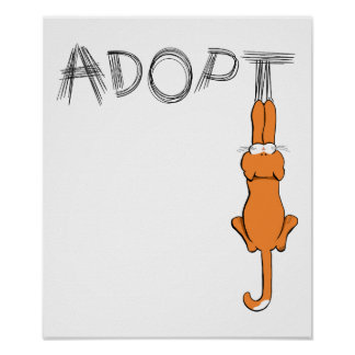 Adopt Cats Rusty™ Pet Adoption Poster