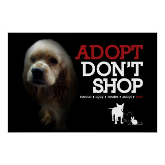 Adopt Don t Shop Poster