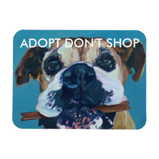 ADOPT DON'T SHOP Car Magnet