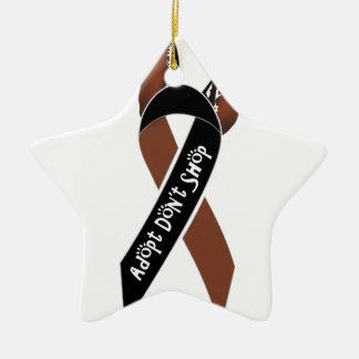 Adopt Don't Shop! Ceramic Star Ornament
