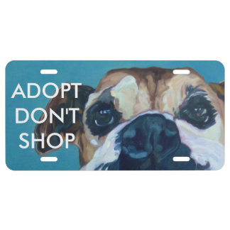 ADOPT DON'T SHOP License Plate