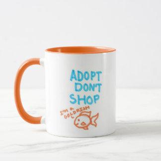Adopt dont shop mug