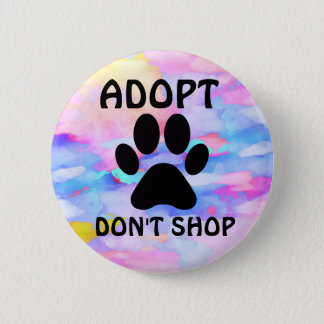 Adopt Don't Shop Standard, 2¼ Inch Round Button