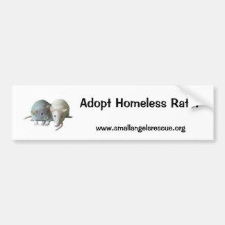 Adopt Homeless Rats! Bumper Sticker