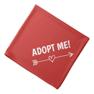 ADOPT ME dog bandana | Red heart pet neckerchief