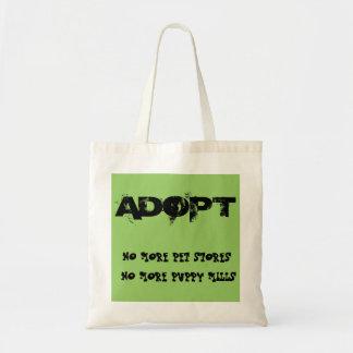 Adopt - No Pet Stores No Puppy Mills Tote Budget Tote Bag